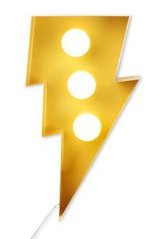 Yellow Lightning Strike Feature Light