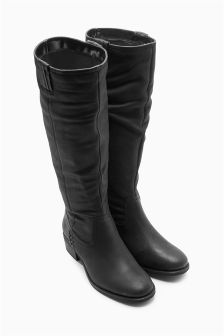 Stab Stitch Leather Boots