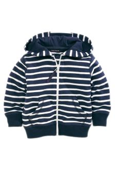 Navy Stripe Zip Through Hoody (3mths-6yrs)