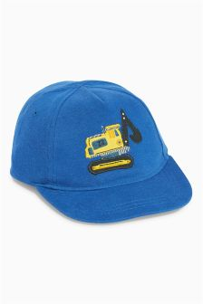 Blue Digger Appliqué Cap (Younger Boys)