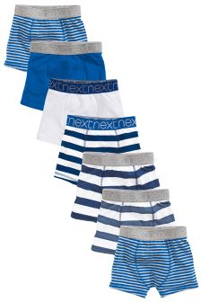 Blue/White Stripe Trunks Seven Pack (2-16yrs)