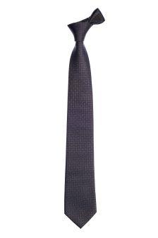 Brown/Navy Silk Patterned Tie
