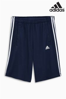 Navy adidas Gym 3 Stripe Short