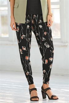 Print Tapered Leg Trousers