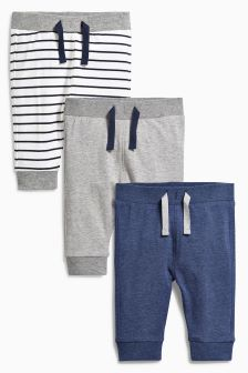 Multi Joggers Three Pack (0mths-2yrs)