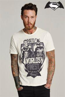 Ecru Batman® V's Superman® T-Shirt