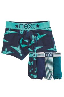 Blue Dino Trunks Five Pack (2-12yrs)