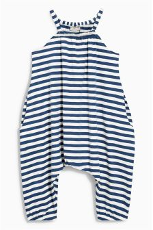 Navy and White Striped Playsuit (3mths-6yrs)