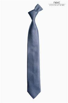Signature Blue Patterned Tie