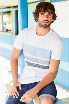 White Wave Stripe T-Shirt