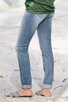 Light Blue Relaxed Cigarette Jeans
