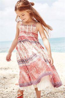 Pink Paisley Maxi Dress (3-16yrs)
