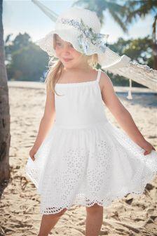 White Broderie Sundress (3mths-6yrs)