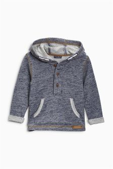 Blue Textured Hoody (3mths-6yrs)
