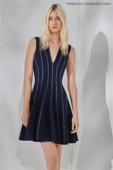 French Connection Navy Jersey Dress