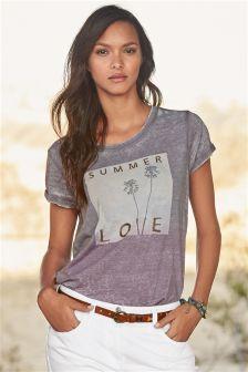 Purple Summer Love Graphic T-Shirt