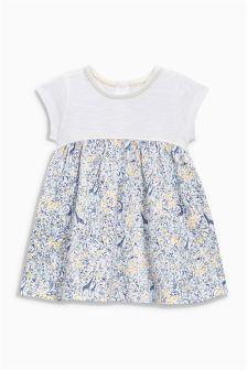 Ecru Jersey Print Dress (0mths-2yrs)