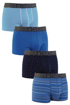 Blue Fashion Mixed Hipsters Four Pack