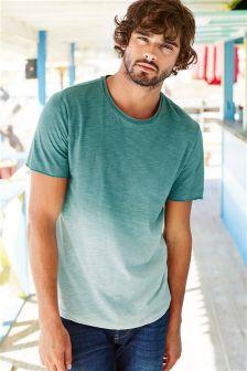 Turquoise Dip Dye T-Shirt