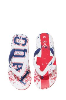 Football White/Red Football Flip Flops (Older Boys)