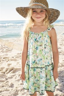 Multi Scalloped Edge Printed Dress (3-16yrs)