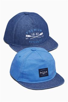 Blue Caps Two Pack (Older Boys)