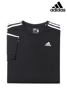 Black adidas Gym 3 Stripe Tee
