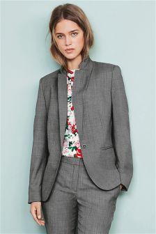 Grey Wool Blend Jacket