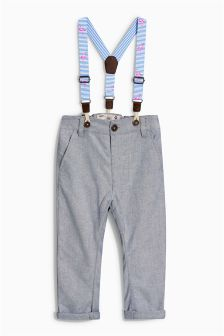 Blue Trousers With Braces (3mths-6yrs)