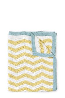 Knitted Bright Stripe Blanket