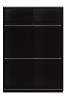 1.5M Sliding Black Wardrobe Frame
