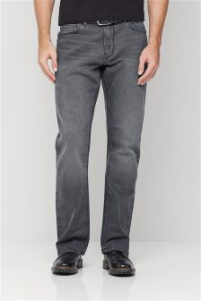 Grey Belted Jeans