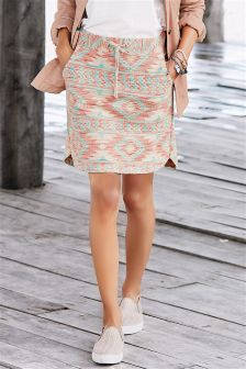 Pink Jacquard Skirt