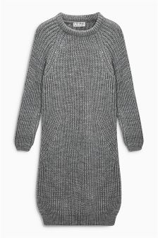 Charcoal Knitted Dress (3-16yrs)