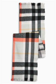 Monochrome Check Scarf (Older Girls)