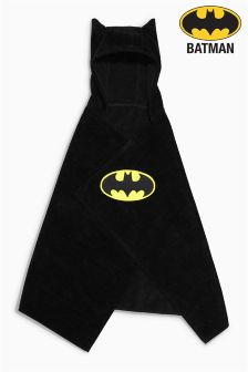 Black Batman® Poncho (9mths-10yrs)