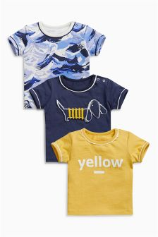 Multi T-Shirts Three Pack (0mths-2yrs)