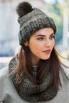 Khaki Striped Snood
