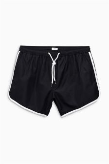 Black Runner Swim Shorts