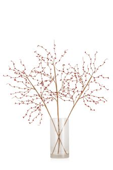Set Of 3 Red Berry Twigs