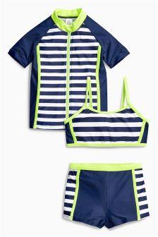 Navy 3 Piece Sunsafe Suit (3-16yrs)
