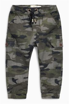 Camouflage Cargo Trousers (3mths-6yrs)