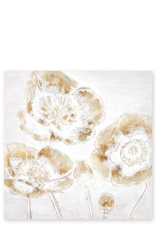 Moulded 3D Floral Canvas