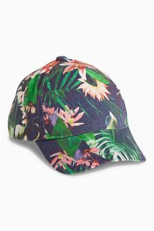 Navy Tropics Cap (Older Girls)