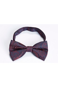 Red/Navy Paisley Bow Tie