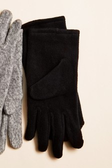 Black Fleece Gloves