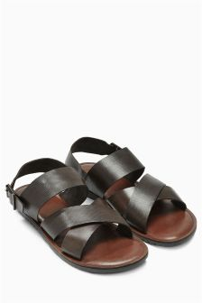 Brown Leather Back Strap Sandal