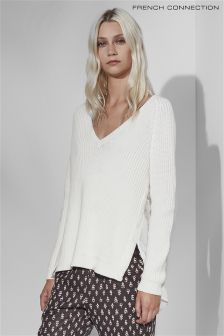 French Connection White Mozart Knit Jumper