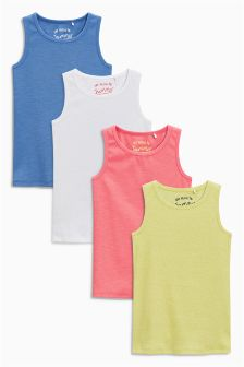 Multi Vests Four Pack (3-16yrs)