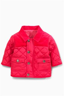 Raspberry Quilted Jacket (0mths-2yrs)